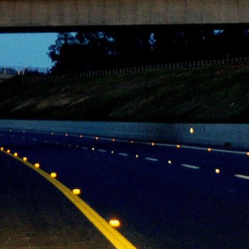 fantasmas reflejantes de carreteras
